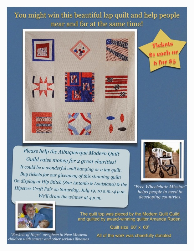 Come and Check out our Charity Quilt.  For more information on the charities we support, please visit our charities tab.